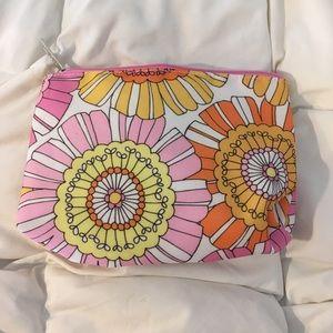 flower print Clinique make up bag